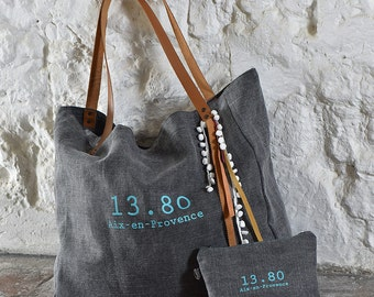 Tote XL grey turquoise Collection CABA
