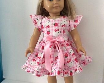 American Girl Handmade Hello Kitty Dress