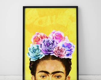 Wall Art Prints Frida Kahlo Print Frida Art Print Frida Kahlo Poster Pop Art Print Frida Kahlo Art Pop Art Poster Frida Kahlo Frida Print