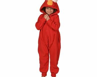 Kids Animal Onesie (Kigurumi - Cosplay) - Red Monster (Elmo inspired)