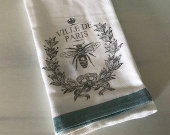 Cynthia Rowley 2 Kitchen Towels - 100% Cotton Paris Kitchen Cottage Towel