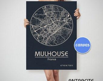 MULHOUSE France map Mulhouse art, Mulhouse print, Mulhouse, Mulhouse map, Mulhouse France, Mulhouse wall art, Mulhouse city map