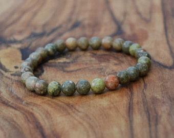 Autumn Jasper - 6mm Genuine Semi Precious Stone Bracelet
