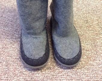Handmade slouchy boots