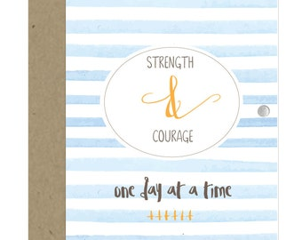 Strength & Courage Card Charm