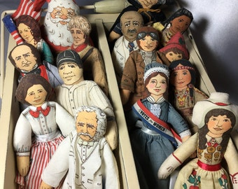 Collection of 1979 Hallmark Cloth Dolls without Box