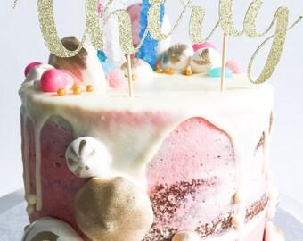 Thirty Cake Topper • 30 Cake Topper • Custom Cake Topper • Birthday Cake Topper • Anniversary Topper • Glitter Cake Topper