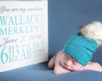 Customizable Birth Announcement Sign | Birth Stats Sign | Keepsake Baby Sign | Nursery Decor | Kids Name Sign | Baby Shower Gift | Playroom