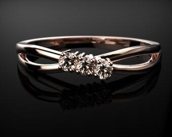 Rose Gold Morganite Ring Rose Gold Engagement Ring Morganite Engagement Ring Morganite Ring Morganite Rose Gold Engagement Ring