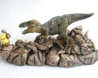 Diorama MINION vs. TYRANNOSAURUS REX