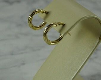 14 K Gold Small Hoop Earrings (pierced)