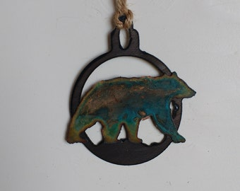Patina Black Bear Ornament