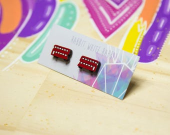 Double Decker Stud Earrings