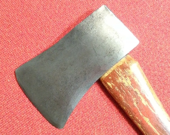 "Vintage Dayton Beveled Pattern Single Bit Axe 35"" Hickory Handle"