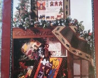 Heartfelt Holidays by Nancy Halvorsen -  Art to Heart - Seasonal Primitive Quilt Applique Pattern book - Stitchery - Christmas