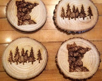 MN Woods Coasters (4 Pack)