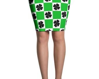 St. Patricks Day Skirt - Saint Patricks Day Skirt - Saint Paddys Day - Clover Skirt - Green Skirt- Irish Skirt - Saint Patricks Day Costume