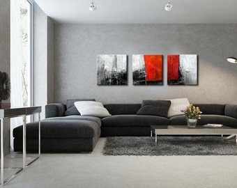 ABSTRACT PAINTING -  Modern Home Wall Decor Painting Canvas Art (together 150x50 cm )(60x20inch)