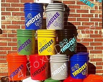 Yardzee Farkle Combo Bucket ONLY / Yardzee Yard Game / Yahtzee/ Farkle