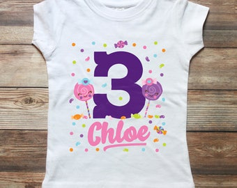 Candy Birthday Shirt - Sweet Shop - Lollipop Shirt - Sweet Shoppe Party - Candy Birthday Outfit - Girls Birthday Shirt - Girl 1st Birthday