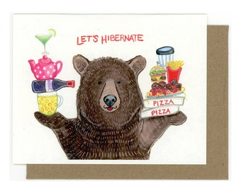 Bear Greeting Card - Woodland Animal Card
