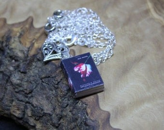 Hand made, Unique, Miniature Book Necklace, Twilight Saga *New Moon* with real pages.