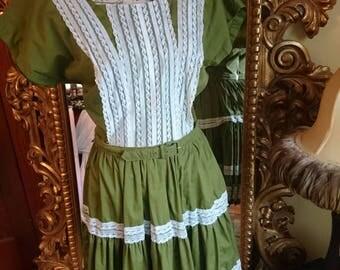 Vintage 1960's Bettina of Miami Square Dance Rockabilly Dress