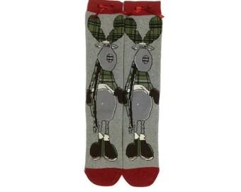 Deer Socks, Cool Socks, Funny Socks, Animal Socks, Christmas Socks, Xmas, Novelty Socks, Leg Warmer, Boot Sock, Christmas Best Friend Gifts