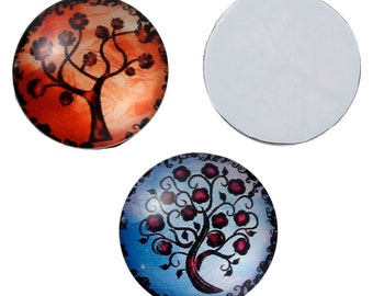 25 mm Tree of Life Cabochon Inserts - Pack of 10 (1019)