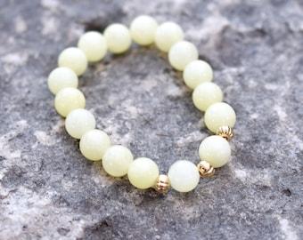 Pale Yellow Stretch Bracelet