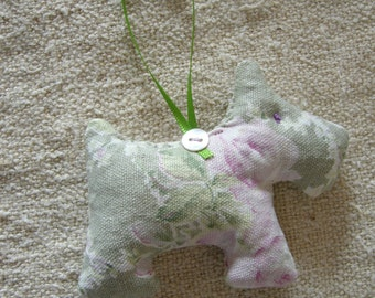 Lavender filled hanging dog decoration