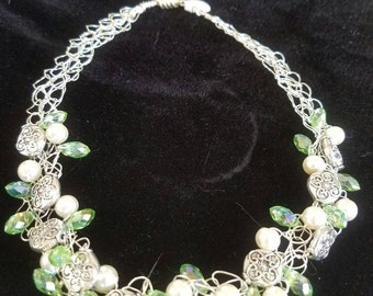 Green bling necklace!
