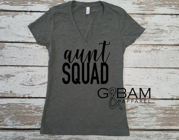 AUNT SQUAD Shirt / Auntie Shirt / Aunt Shirt / You're going to be an aunt / Pregnancy reveal / Family Pregnancy reveal