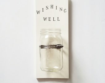 Home Wishing Well, Hanging Coin Bank, Coin Bank, Housewarming Gift, Our Wishing Well, Vacation Fund, Coin Wishing Well, Home Wishing Well