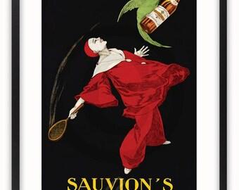 Sauvion's Brandy - Vintage Poster