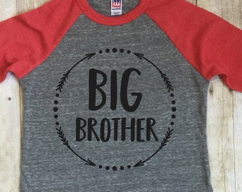 Big Brother Shirt-Big Brother Announcement Shirt-New Brother Shirt-Baby Announcement Shirt-Sibling Shirt-Raglan Shirt-Little Brother Shirt