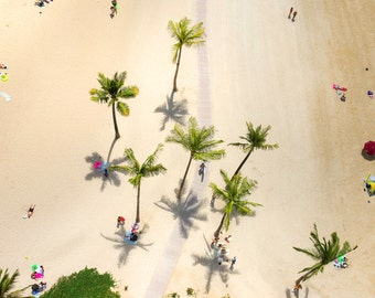Aerial beach photography, Aerial photography, Beach Print, Coastal Print,Beach Decor, Beach Art, Coastal Decor, palm beach,Aerial beach