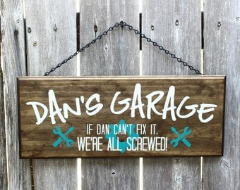 Christmas Gift for Dad - Funny Gift for Dad - Funny gift for Men - Garage Sign for Dad - Garage Sign for Men - Man Cave Sign