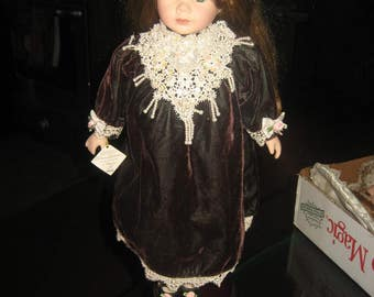 Victorian Collection Limited Edition Genuine Porcelain Doll by Melissa Jane
