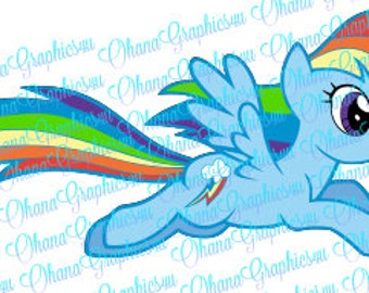 My Little Pony Inspired Rainbow Dash Flying SVG