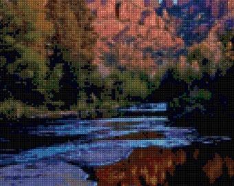 Cathedral Rock Arizona Cross Stitch pattern PDF - Instant Download!