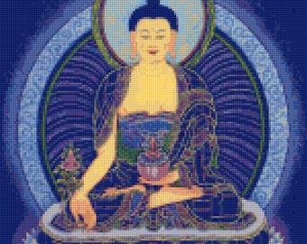 Buddha Thangka Cross Stitch pattern - PDF - Instant Download!