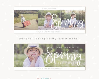 Facebook Timeline Template, Photography Facebook Timeline Covers, Facebook Cover Template, Facebook Cover Photo, Facebook banner, Spring