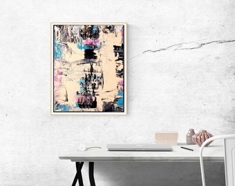 Light Pink Wall Art, Modern Abstract Print, Printable Art Office Bedroom Bathroom Art, Affordable Wall Art Large Print, Instant Download
