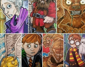 "Harry Potter Year 1 -  Art Cards 2 1/2"" x 3 1/2"" Custom order"