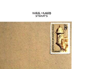 San Juan, Puerto Rico || Set of 10 unused vintage postage stamps  Listing Stats