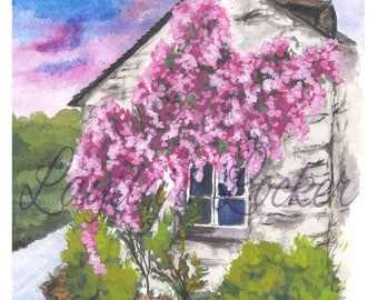 Watercolor Original Painting - Old House