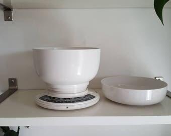 Vintage Soehnle Kitchen Scale - Original Bowls & Operating Manual - Excellent Condition - Made in Switzerland - Kartell Panton Era