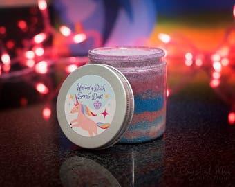 Unicorn Bath Bomb Dust - Holographic Glitter - Cotton Candy Scented