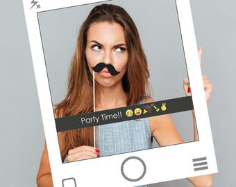 Fully PRINTED Snapchat style Social Media Frame